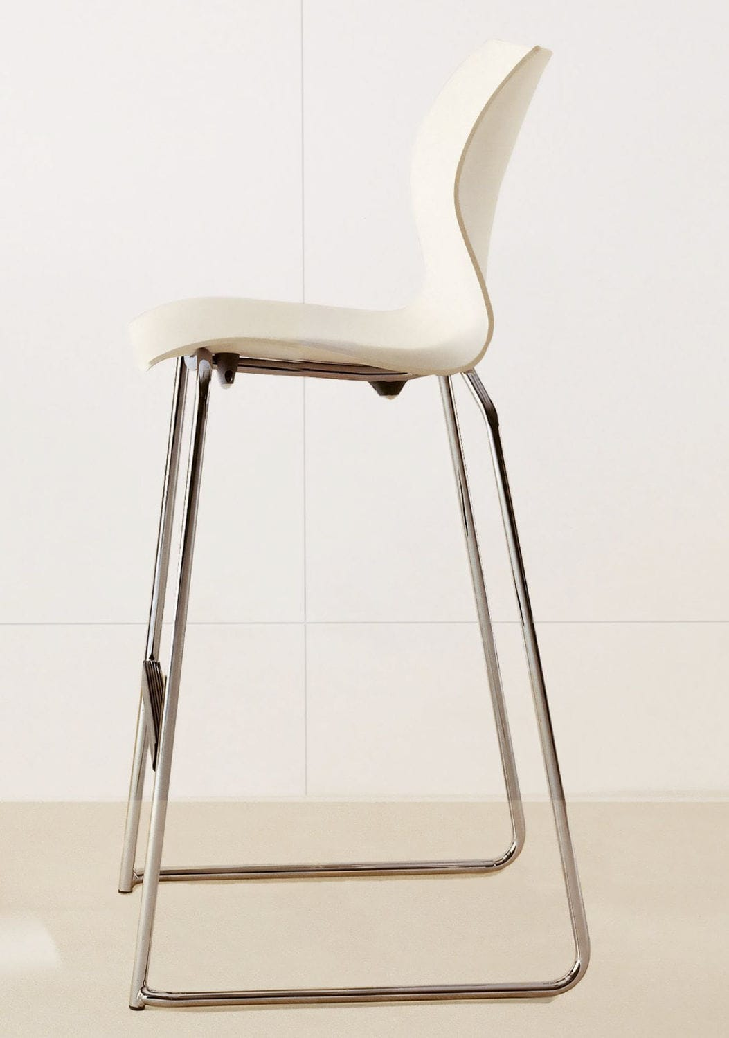 Contemporary Bar Chair Stackable Chrome Commercial