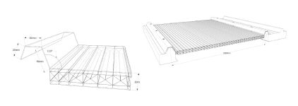 Polycarbonate roof panel / translucent - 29330-XL - Rodeca GmbH