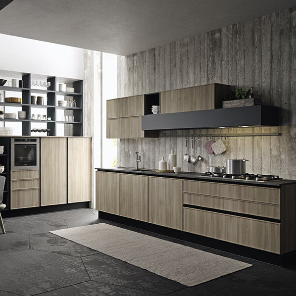 Contemporary Kitchen Quadro Aran Cucine Polymer Island Ecological
