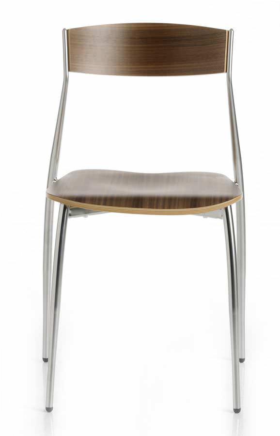 Groovy Contemporary Chair Stackable Beech Walnut Theyellowbook Wood Chair Design Ideas Theyellowbookinfo