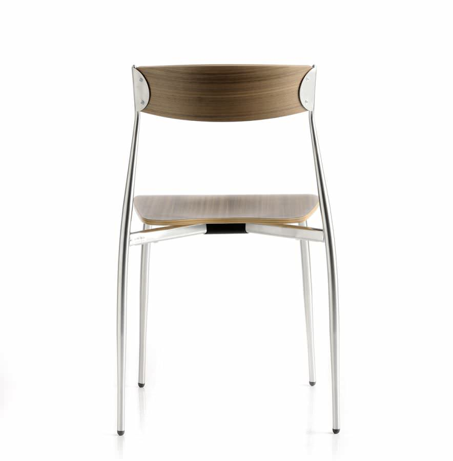 Pleasing Contemporary Chair Stackable Beech Walnut Gmtry Best Dining Table And Chair Ideas Images Gmtryco