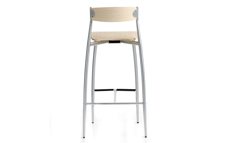 Wondrous Contemporary Bar Chair Stackable Beech Walnut Theyellowbook Wood Chair Design Ideas Theyellowbookinfo