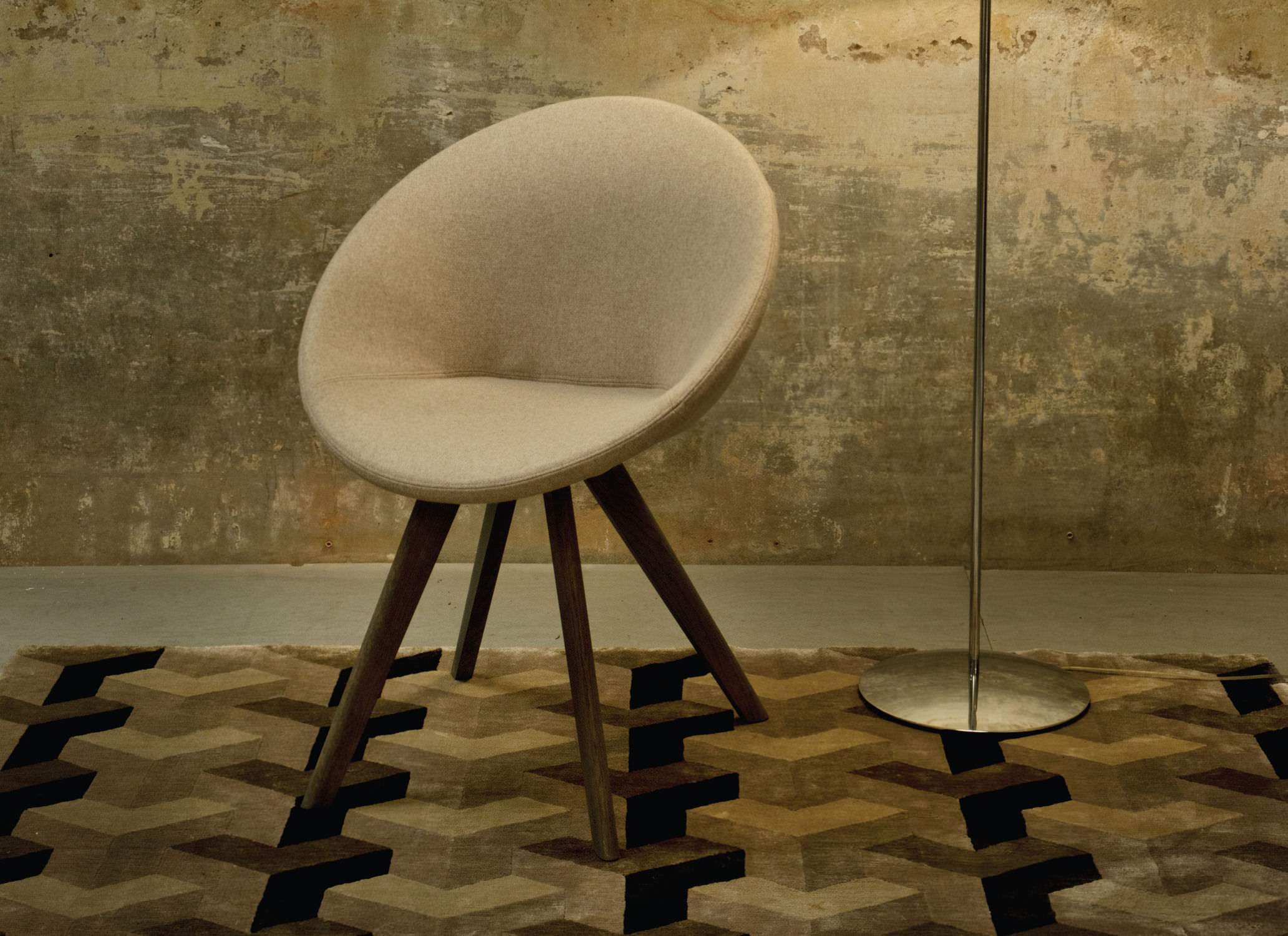 Contemporary Chair Upholstered Fabric Asiya By