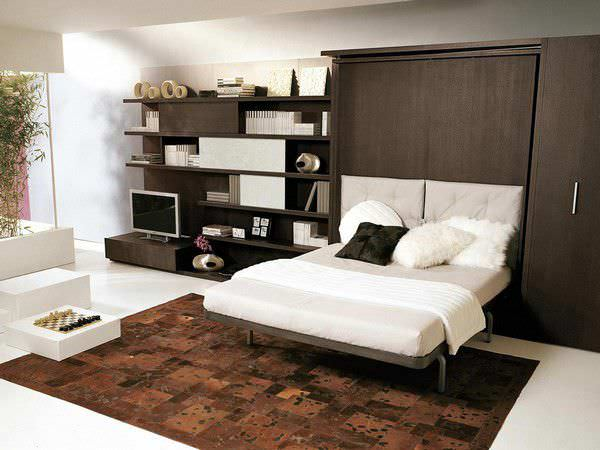 Wall Bed Double Contemporary Upholstered Lgm 02 By R D Clei Pierluigi Colombo
