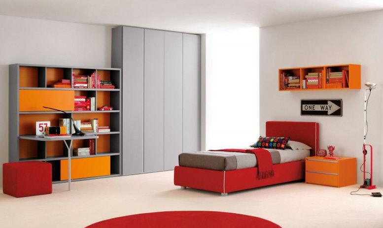 Orange Children S Bedroom Furniture Set, Childrens Bedroom Furniture Sets