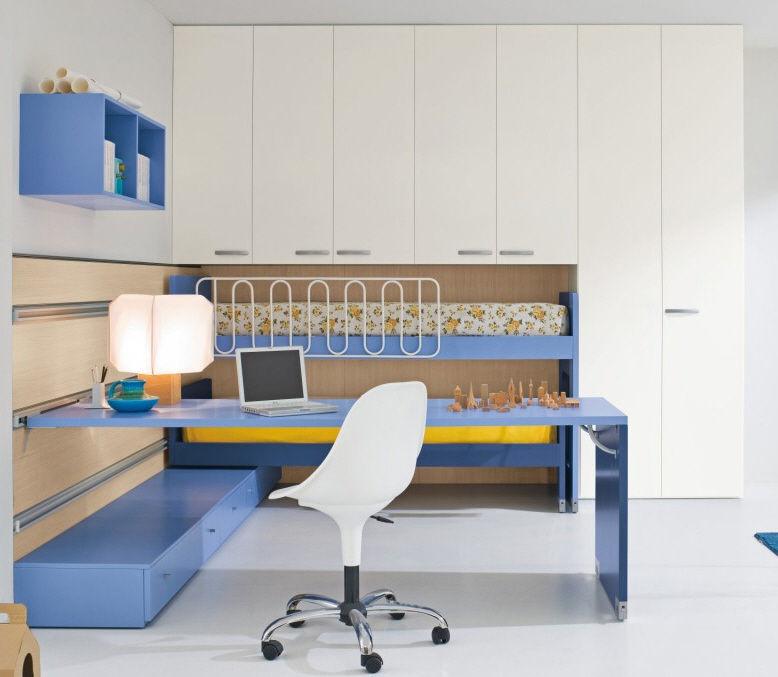 Blue Children S Bedroom Furniture Set Start 154 Clever Boy S