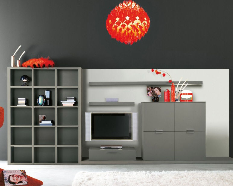 Contemporary Living Room Wall Unit Living 036 Clever