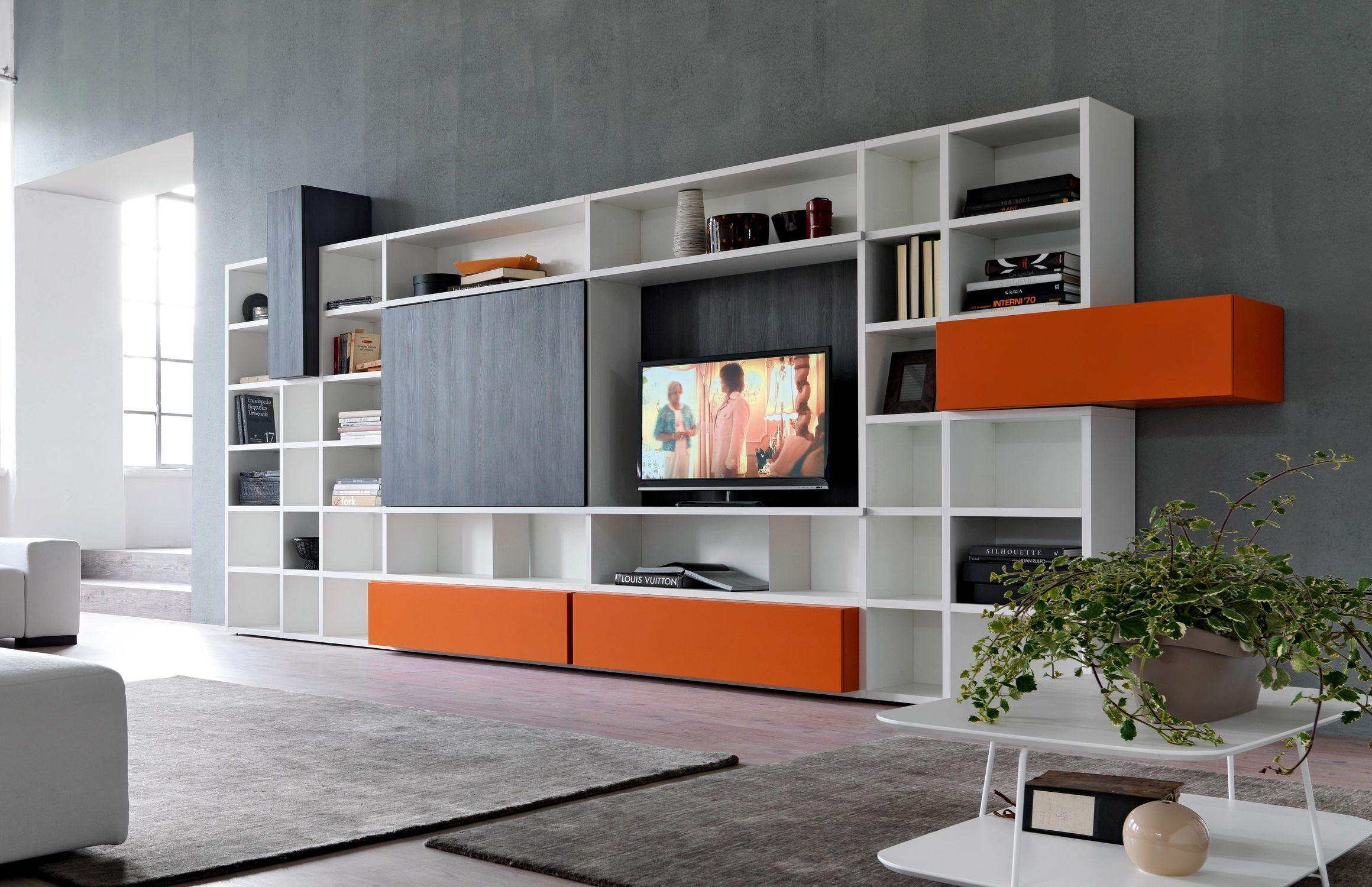 Contemporary Tv Wall Unit Modular Citylife 34