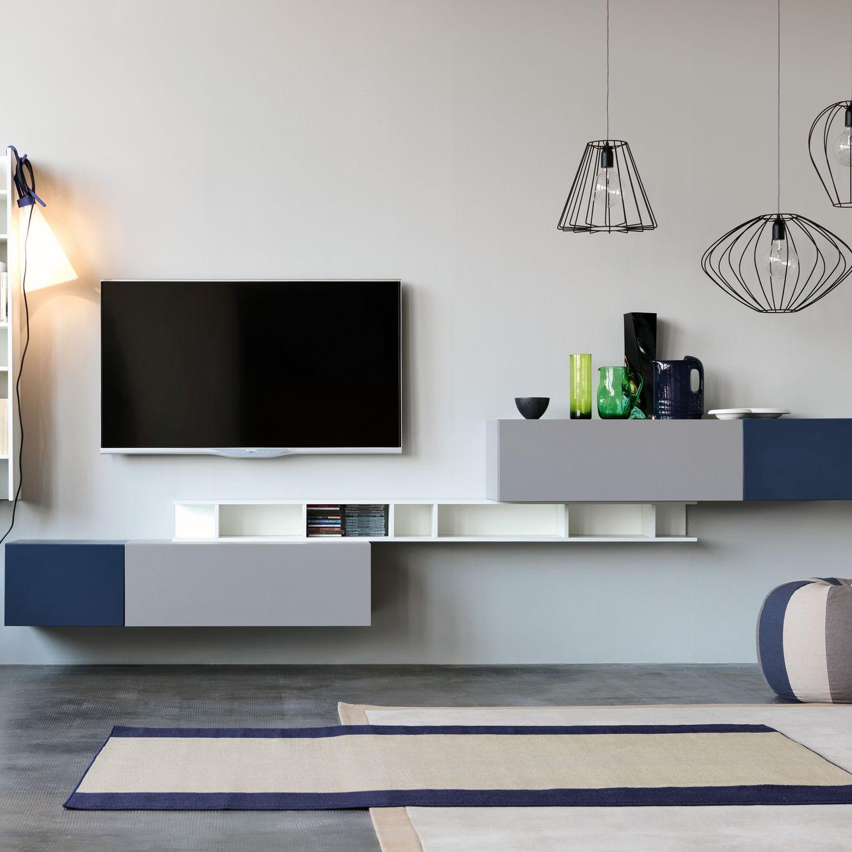 Contemporary Tv Wall Unit Modular Citylife 14