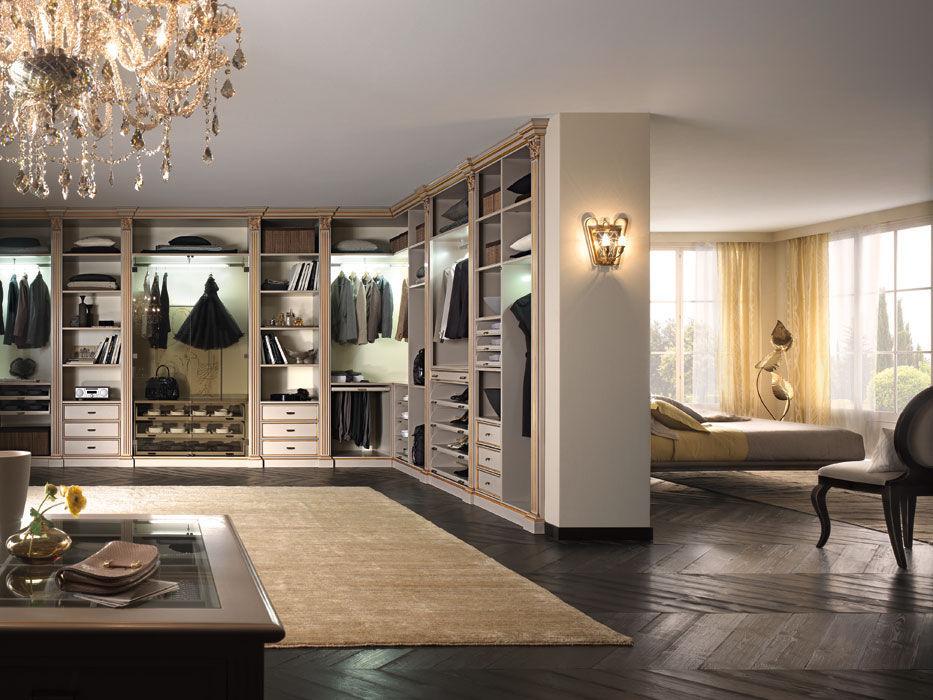 Wooden walk-in wardrobe - PALLADIO STYLE - F.M. Bottega d ...