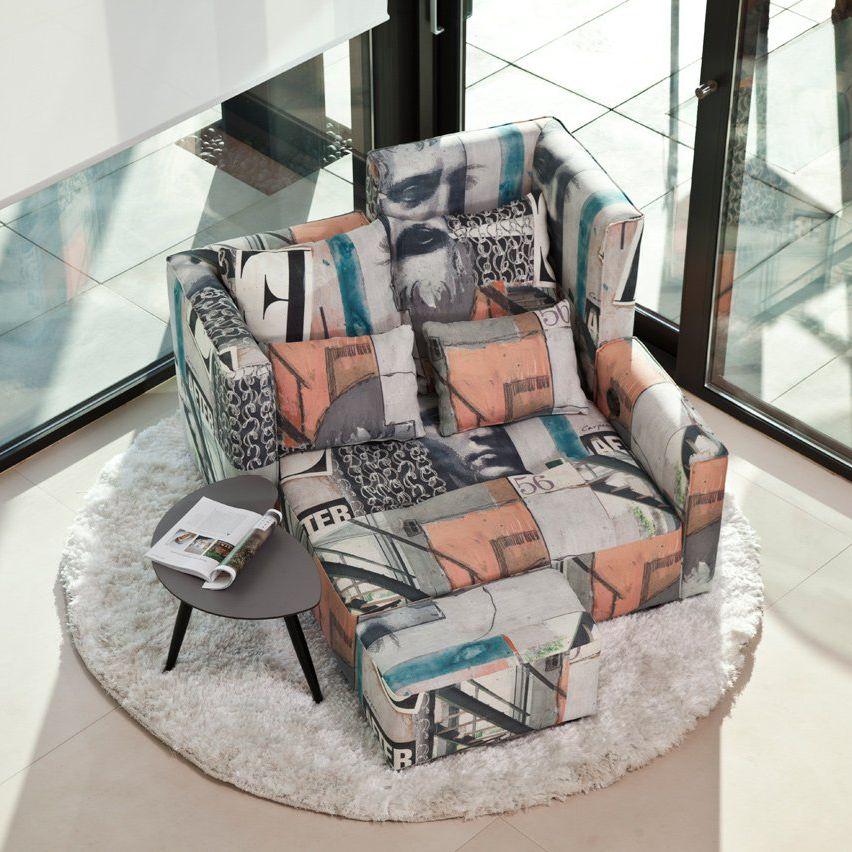 Contemporary armchair MYCLUB Fama Tapizados fabric