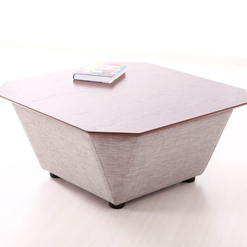 Contemporary Coffee Table Wooden Fabric With Storage