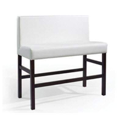 Miraculous Uupholstered Bistro Bench Contemporary Fabric Wooden Dailytribune Chair Design For Home Dailytribuneorg