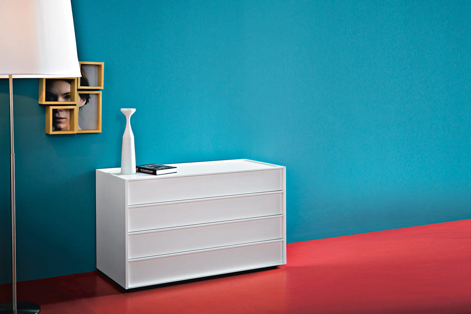 Contemporary Chest Of Drawers Lacquered Wood Oak Matte  # Giellesse Muebles