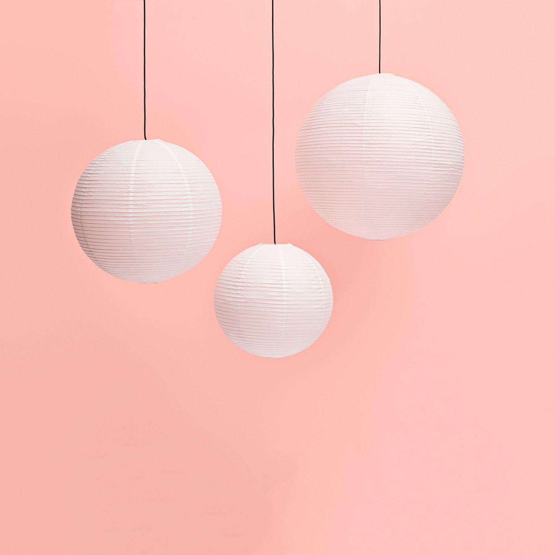 Pendant Lamp Rice Paper Shade Hay A