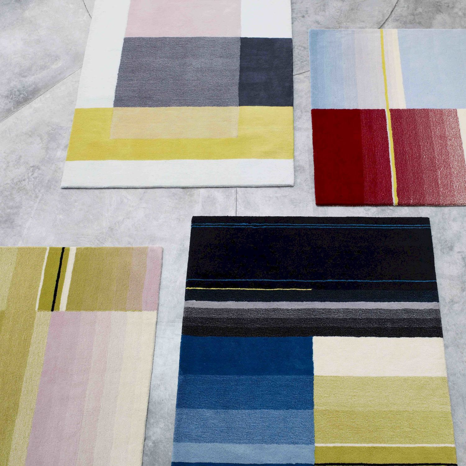 Contemporary Rug Multi Color New Zealand Wool