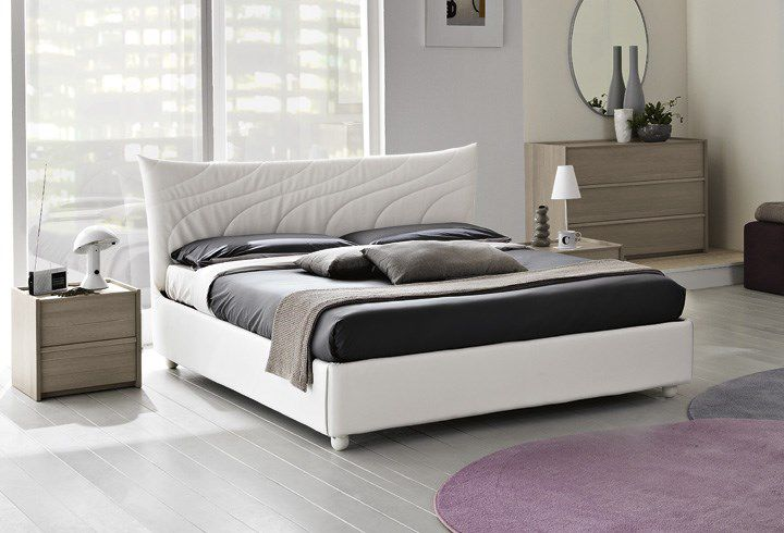 Double bed / contemporary / upholstered / leather - GALEONE ...