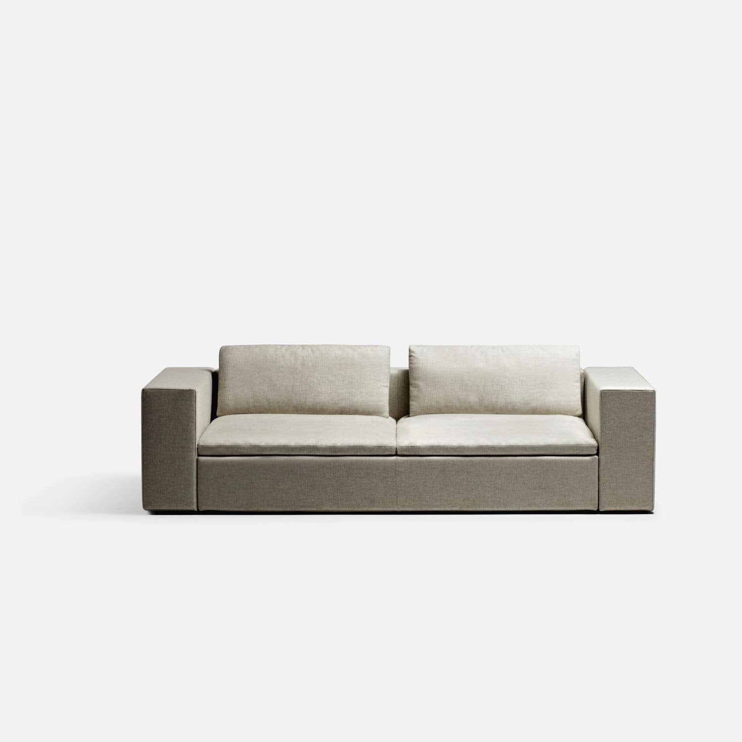 Modular sofa corner contemporary leather PUZZLE by LC made