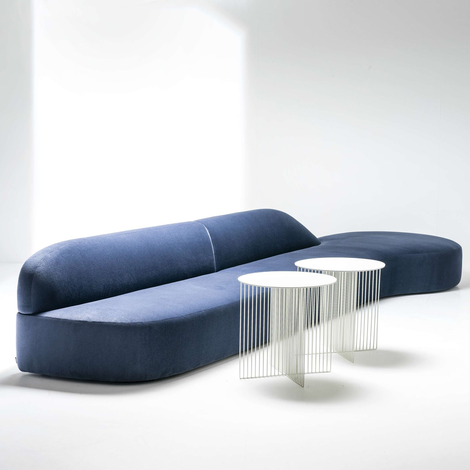 Modular sofa contemporary fabric leather GUEST by Antonio