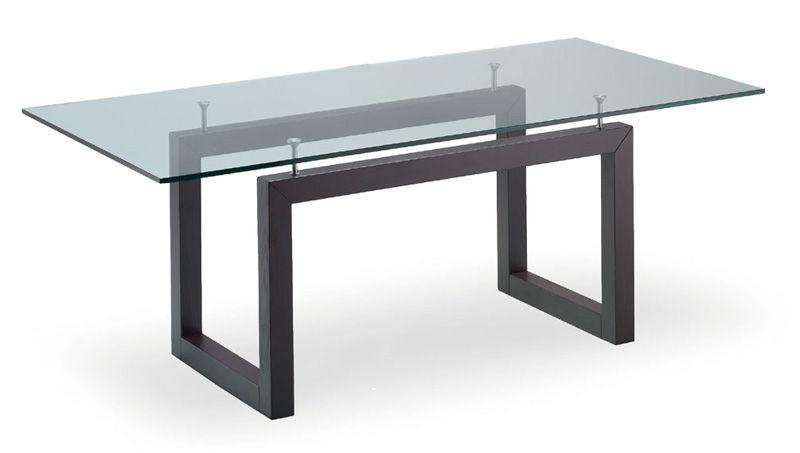Tavolo Cristallo In Vetro.Contemporary Table Glass Rectangular Party Livoni Edoardo