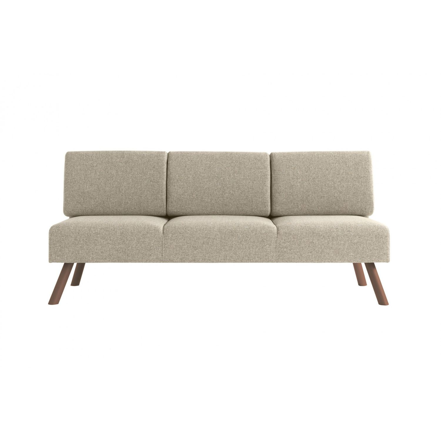 Contemporary Sofa Fabric Wooden 3 Seater Nomad 827