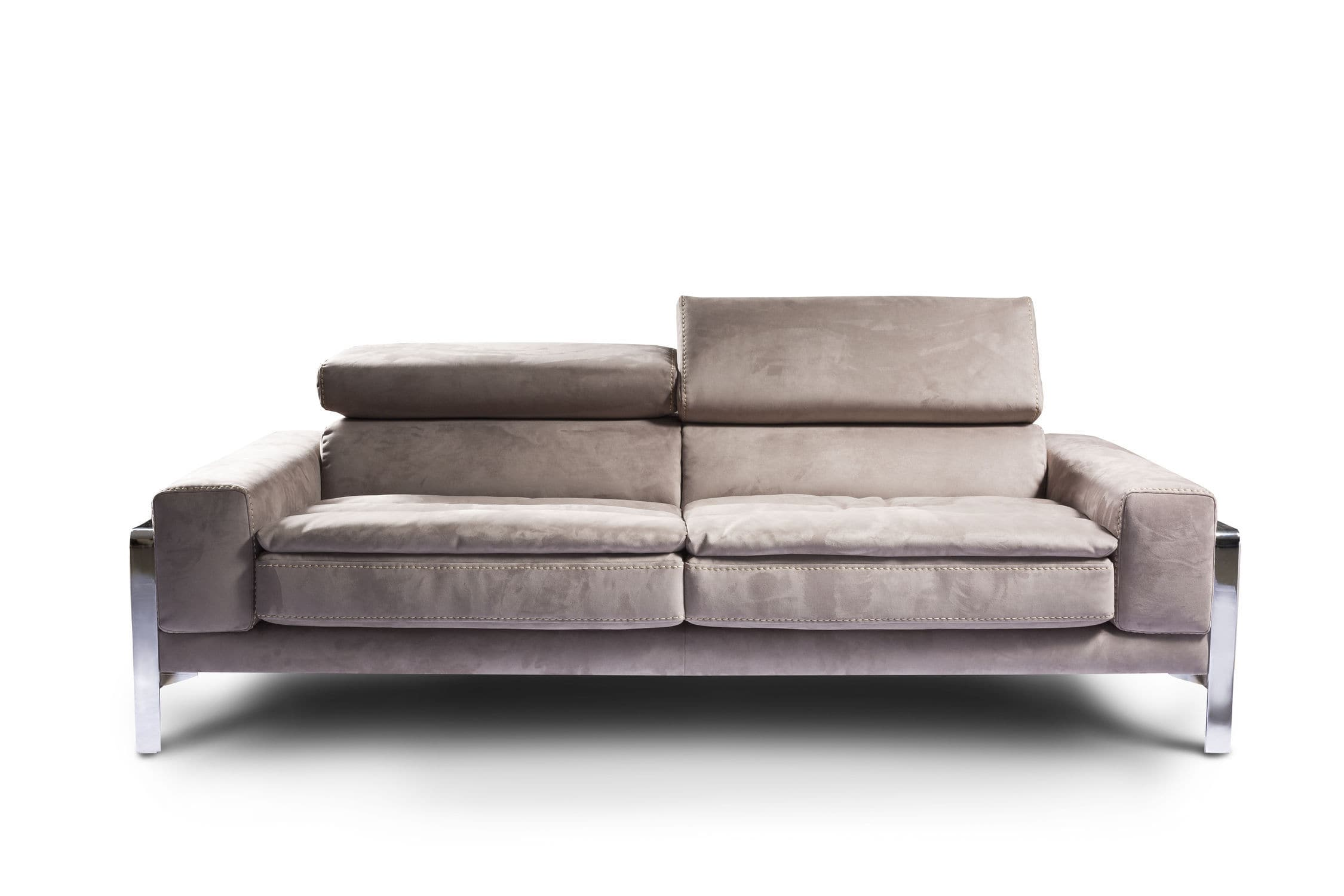 Contemporary sofa leather 3 seater beige PRISS Nieri
