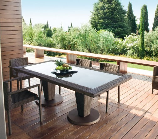 Set Giardino In Rattan.Contemporary Table And Chair Set Rattan Garden St Tropez By