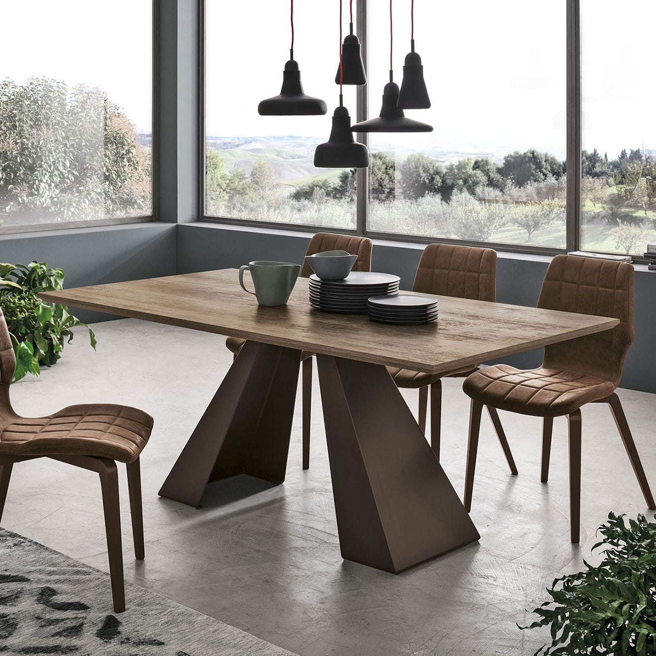 Contemporary Dining Table Taurus 200