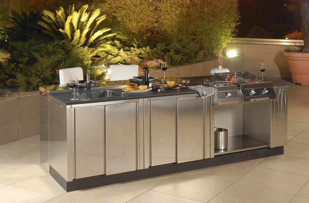 Stainless steel kitchen / outdoor / handleless - OUTDOOR ...