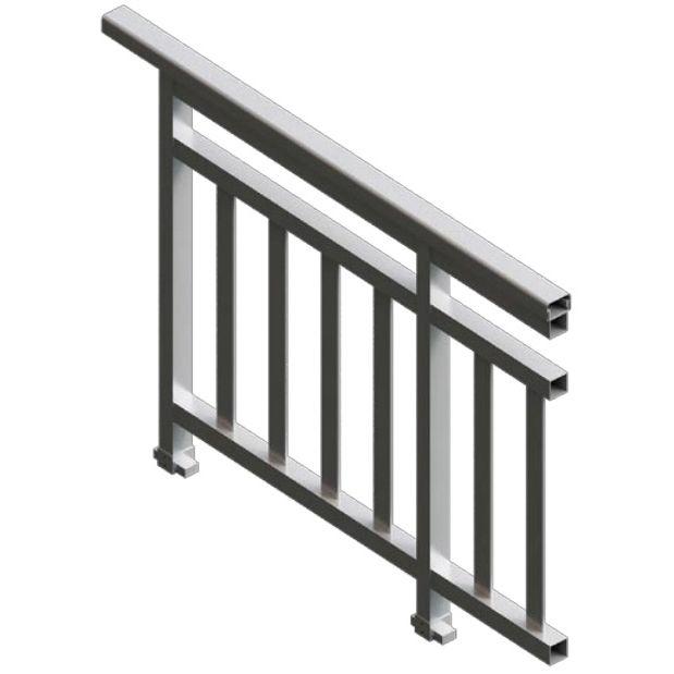 Aluminum railing / with bars / indoor / outdoor - OF 60