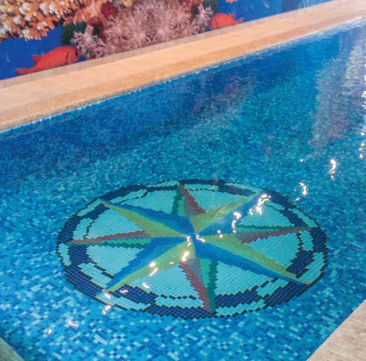 Indoor mosaic tile / pool / wall / floor - DESIGNS : ROSA DE ...