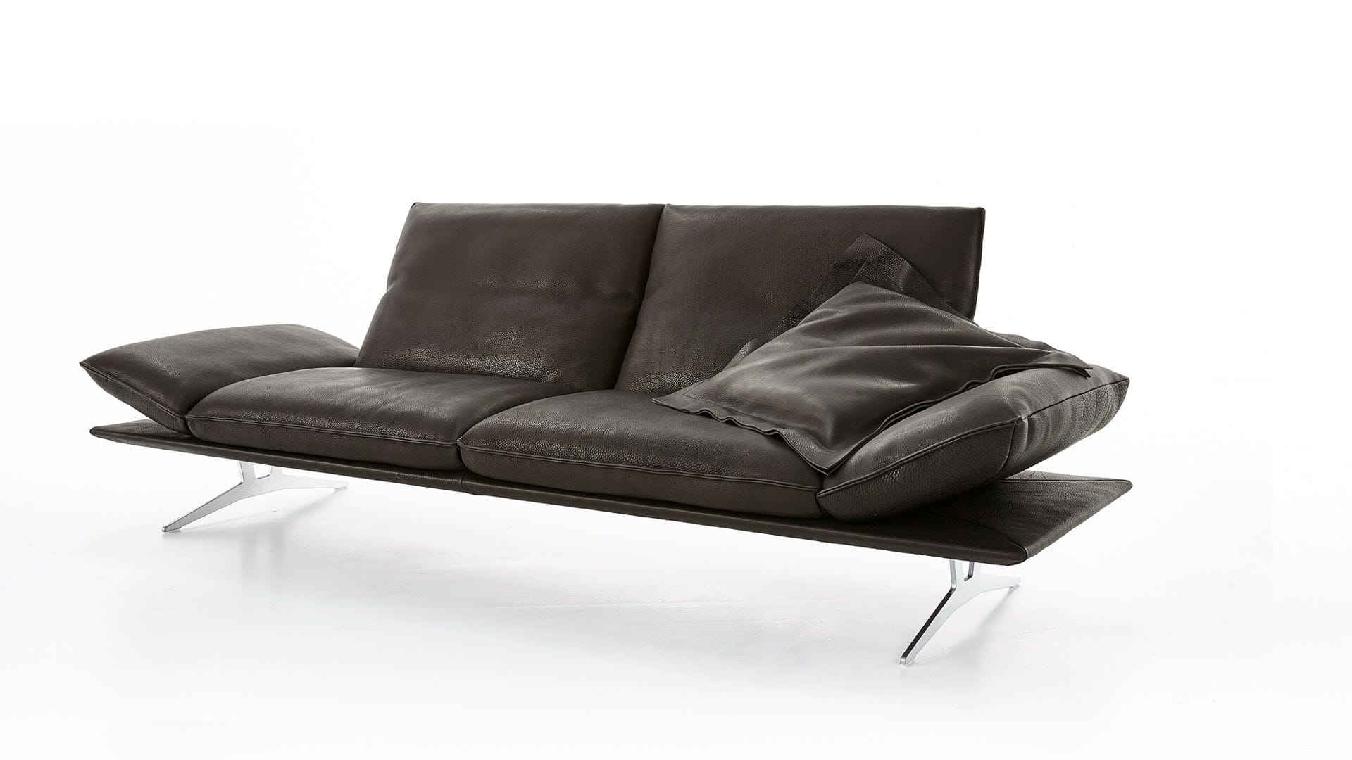 Contemporary Sofa Leather Metal 2