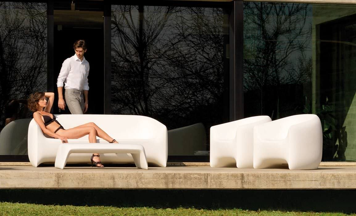 Salon De Jardin Original contemporary armchair / polyethylene / 100% recyclable