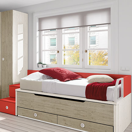Pull-out bed / single / contemporary / with drawer - OLDSCHOOL KIDS