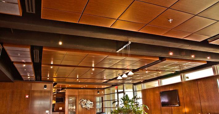 Wooden Suspended Ceiling Tile Acoustic Planostile