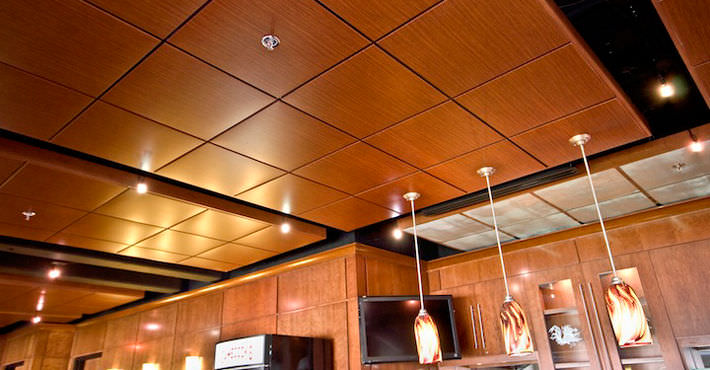 Wooden Suspended Ceiling Tile Acoustic
