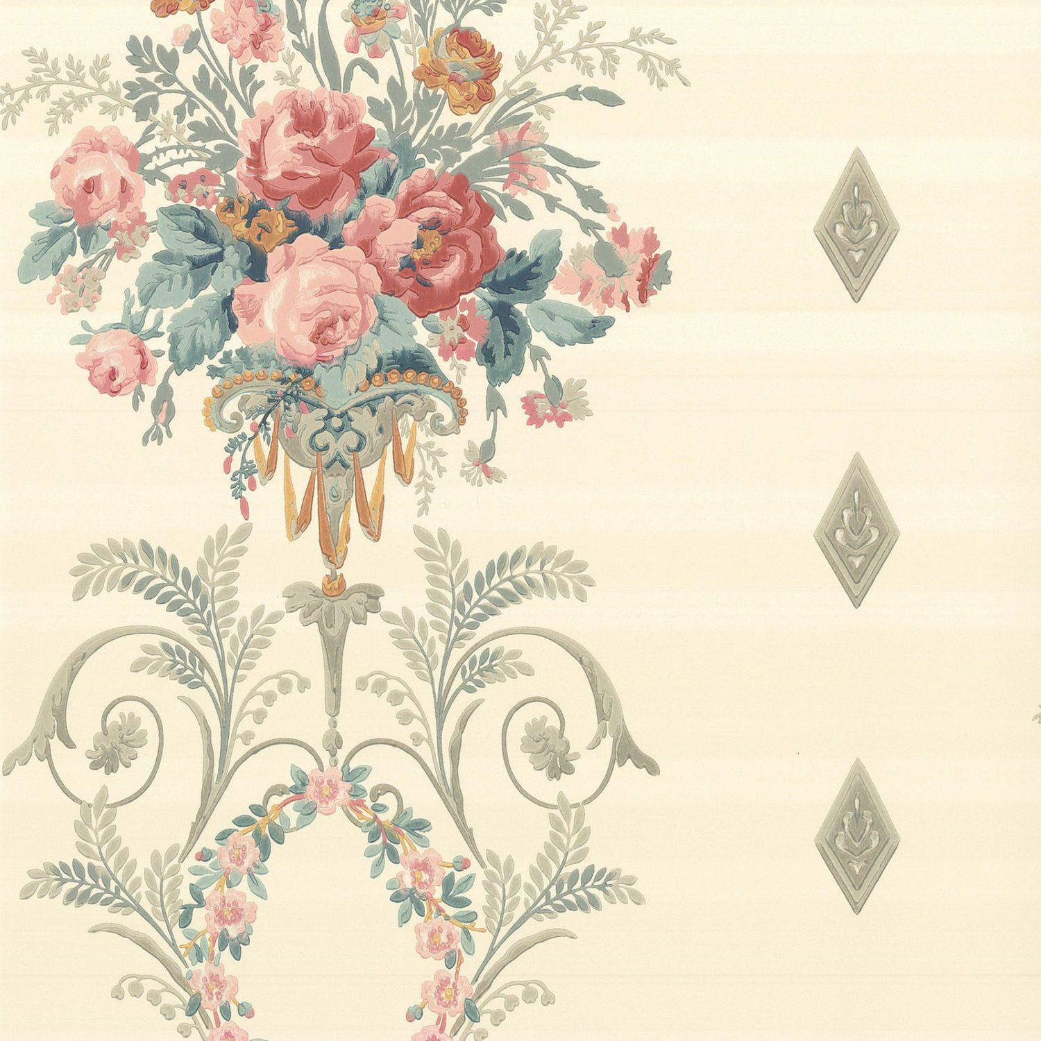 Classic Wallpaper Floral Palais C 1760 The Little Greene