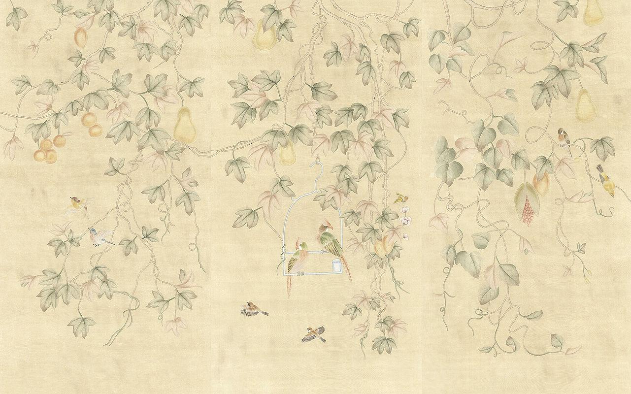 Traditional Wallpaper Fl Animal Motif Chinoiserie