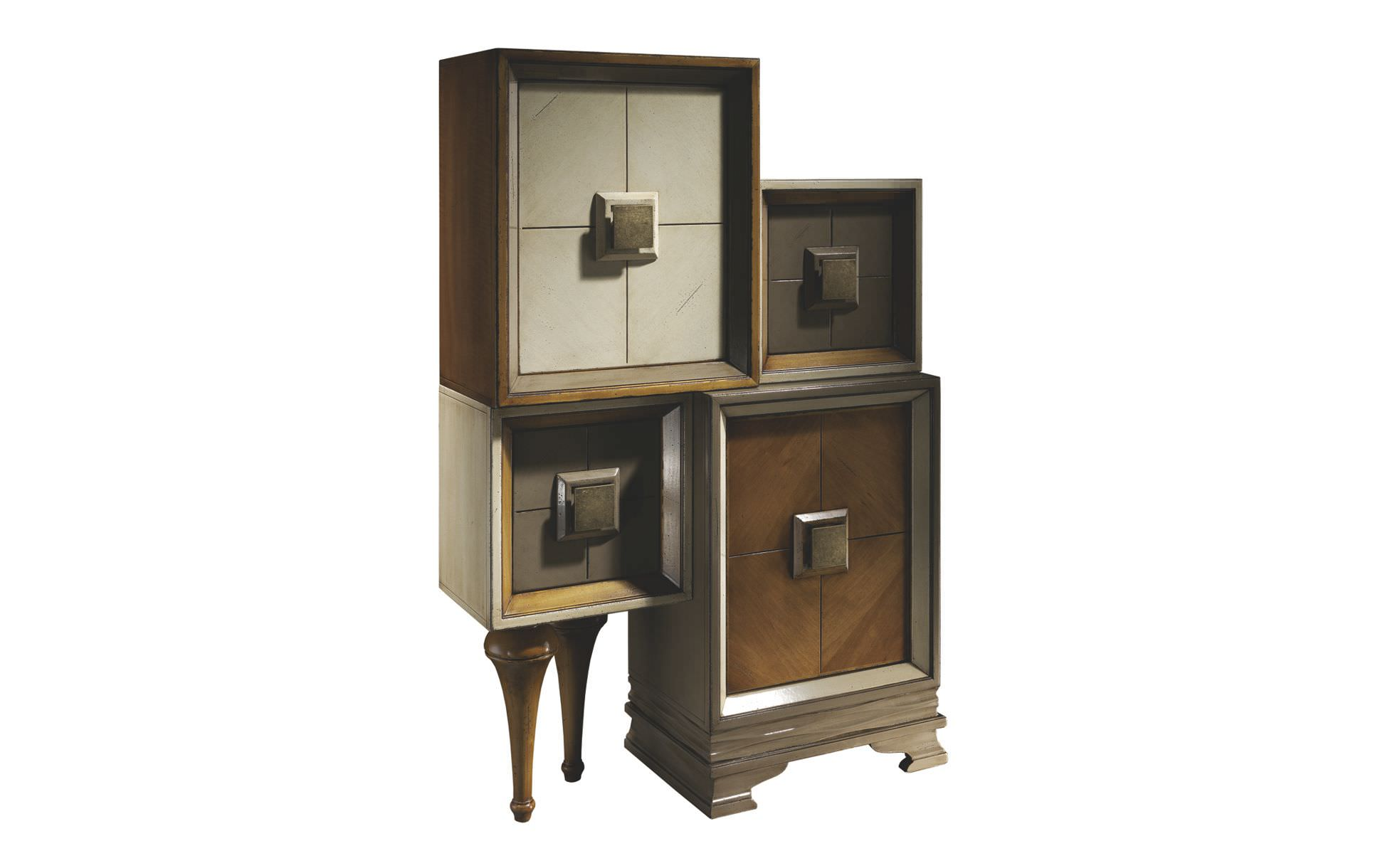 Contemporary Entryway Cabinet Wooden With Storage