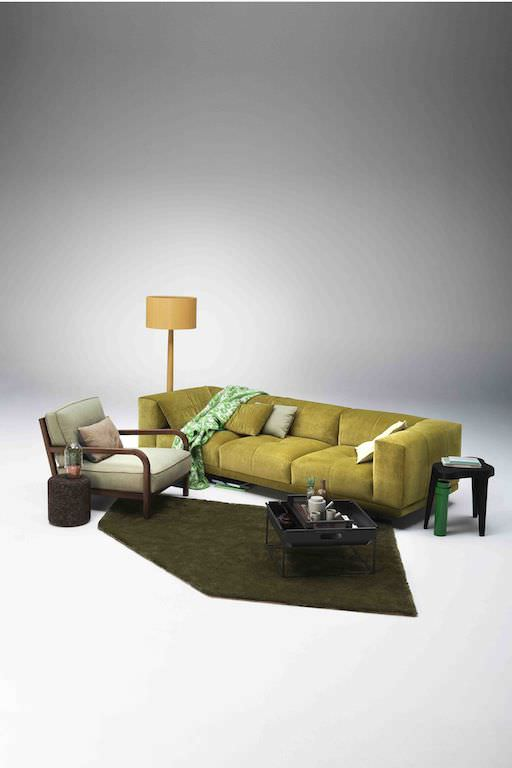 Design Bank Linteloo.Contemporary Sofa Fabric 3 Seater Black Desire By Jan Des