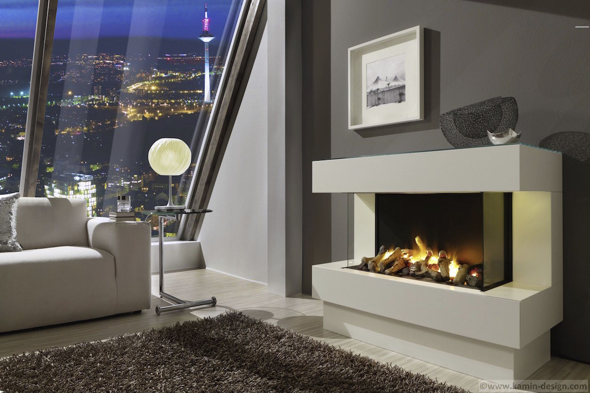 Electric Fireplace Concept 4 El Kamin Design Gmbh Co Kg Ingolstadt Contemporary Closed Hearth 3 Sided