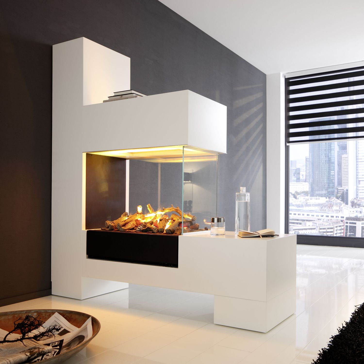Aspect Splan 21 El Electric Fireplace Contemporary Closed Hearth 3 Sided By Kamin Design Gmbh Co Kg Ingolstadt Archiexpo