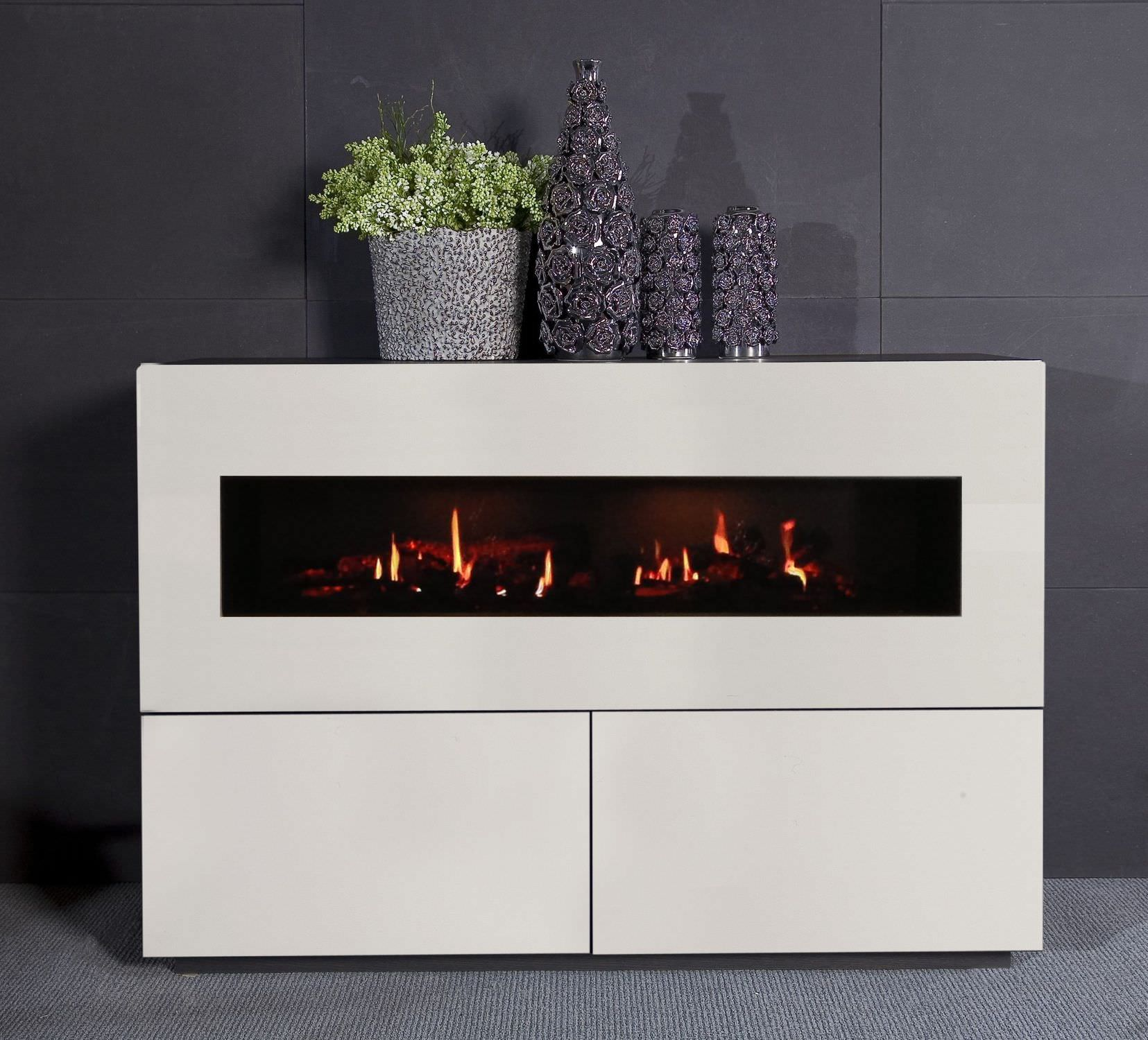 Electric Fireplace Contemporary Closed Hearth Free Standing Concept Nr 6