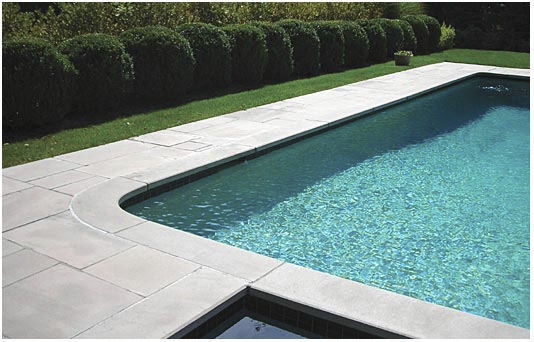 Stone swimming pool coping - Indiana Limestone Company