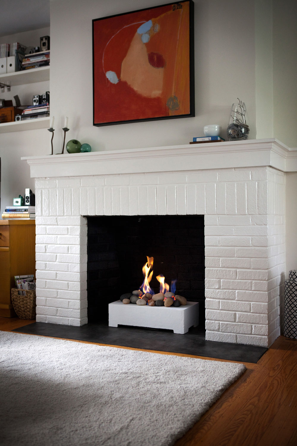 Propane Fireplace Natural Gas Contemporary Open Hearth