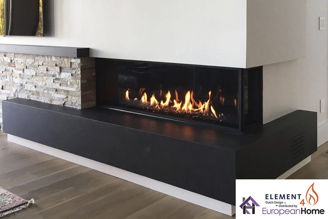 Natural Gas Fireplace Propane Contemporary Closed