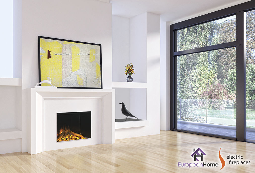 Electric Fireplace Contemporary Open Hearth Built In E32h
