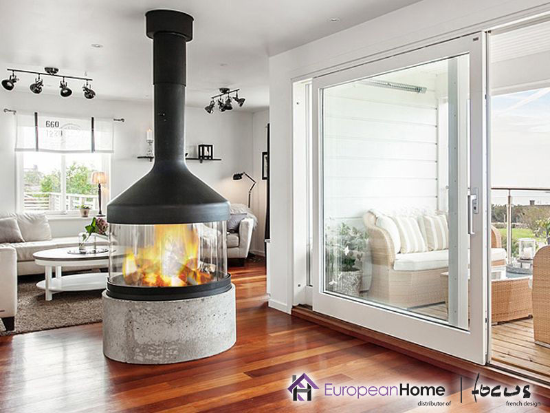 Wood Burning Fireplace Natural Gas Propane Contemporary