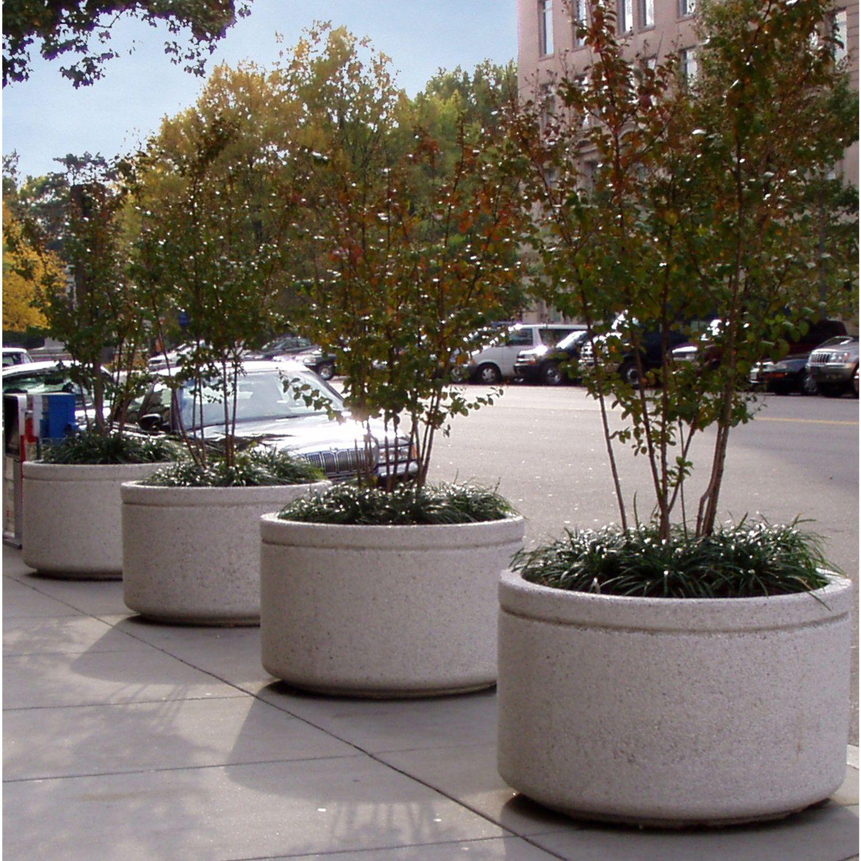 Image of: Concrete Planter Large Tree Nitterhouse Rectangular Square Round