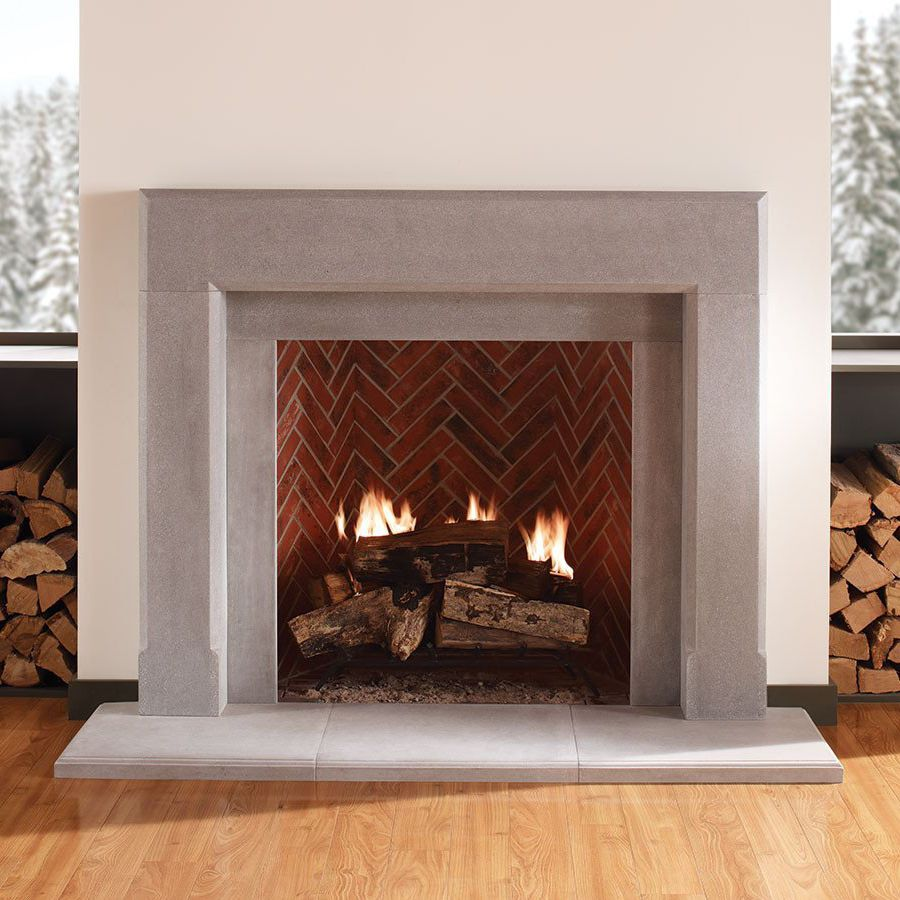 Contemporary Fireplace Surround Stone The Dylan